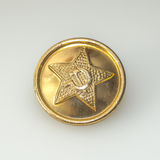 The button from military uniforms of Soviet army Royalty Free Stock Photo