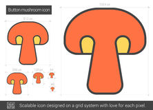 Button mushroom line icon. Stock Photography