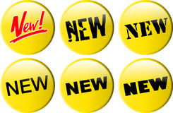 Button_new Imagem de Stock