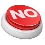 Button no Royalty Free Stock Image