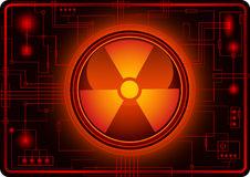 Button with Nuclear sign Stock Photo