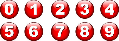 Button number icon Royalty Free Stock Photography