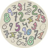 Button numbers Royalty Free Stock Images