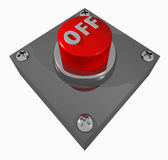 Button_OFF Foto de Stock Royalty Free