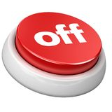 Button Off Royalty Free Stock Images