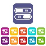Button on and off icons set Stock Photo