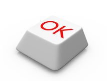 Button for ok Stock Photo