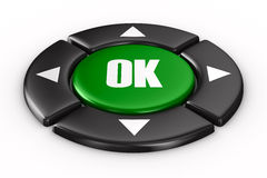 Button ok on white background Stock Image