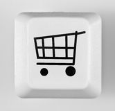 Button online shopping Royalty Free Stock Photos
