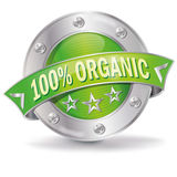 Button 100% organic Royalty Free Stock Photos