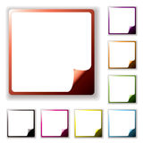 Button page peel Royalty Free Stock Photos