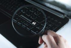 Button password Royalty Free Stock Photos