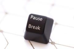 Button pause break. Keyboard black button pause break stock photos