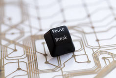 Button pause break. Keyboard black button pause break on backround royalty free stock photography