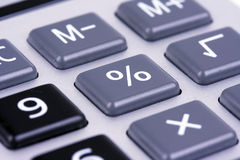 Button Percents Stock Photo