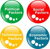 Button PEST analysis concept icon Royalty Free Stock Images