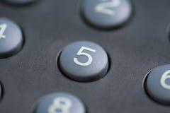 button pięć numerów Fotografia Stock