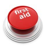 button pierwszej pomocy Zdjęcie Stock