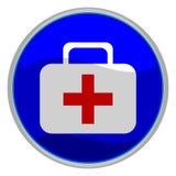 button pierwszej pomocy Obrazy Stock