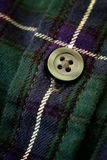 Button on Plaid Flannel Shirt Stock Photography