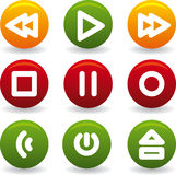Button play Royalty Free Stock Photography