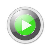 Button play. Green play button isolated on white Royalty Free Stock Photo