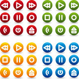 Button play icon Stock Photography