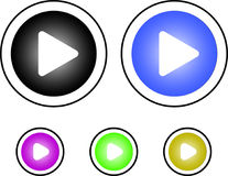 Button play. Button for playing audio and video files as well as for transitions Royalty Free Stock Photography