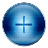 The button plus blue Stock Photography