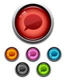 button pogawędkę ikony royalty ilustracja