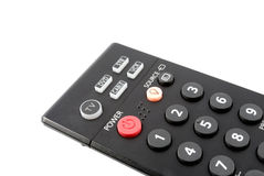The button of power on a remote control panel Stock Photo