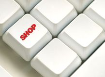 The button for purchases on the keyboard Royalty Free Stock Photography