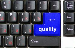 Button of quality royalty free stock photography