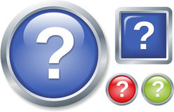 Button question Stock Photography
