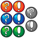 Button, a question mark, exclamation mark Stock Photo