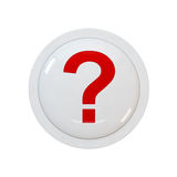 Button with a question point. 3d render of a red button with a question point Stock Images