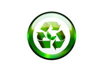 button recycle 免版税库存照片