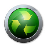 Button of recycle icon Royalty Free Stock Photo