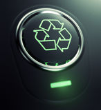 Button with recycle symbol Stock Photos