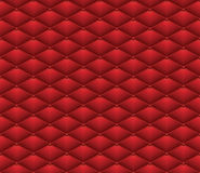 Button Red Leather seamless pattern. Abstract Luxury background vector illustration. Stock Photography