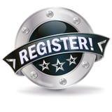 Button register Royalty Free Stock Photos