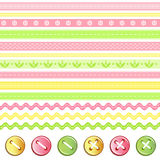 Button and ribbon collection. vector illustration
