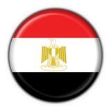 button rund form för den egypt flaggan stock illustrationer