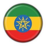 button rund form för den ethiopia flaggan stock illustrationer
