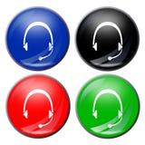 button słuchawki Zdjęcia Stock