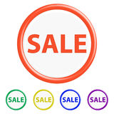 Button sale Royalty Free Stock Image
