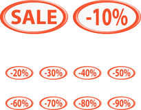 Button sale Royalty Free Stock Photography