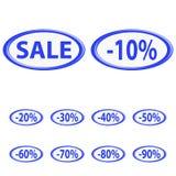 Button sale Stock Photos