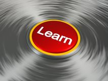Button that says learn Stock Images