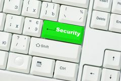 Button of security Stock Photos